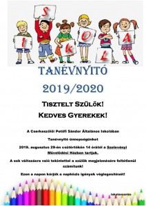 Tanévnyitó plakát Szelevény